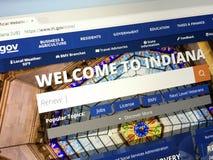 ` homepage U S indiana stan Fotografia Stock