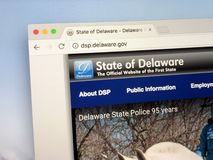 Homepage U S stan delaware Zdjęcie Stock