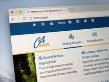Homepage U S stan kalifornia Obrazy Stock