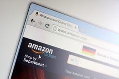 Homepage van Amazonië com Stock Foto's