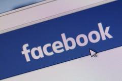 Homepage van facebook com Royalty-vrije Stock Afbeelding