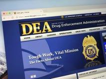 Homepage van het Beleid van de Drughandhaving - DEA royalty-vrije stock afbeeldingen