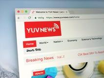 Homepage van van Yuv-Nieuws Royalty-vrije Stock Afbeeldingen