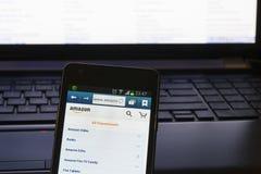 Homepage von Amazonas com Lizenzfreies Stockfoto