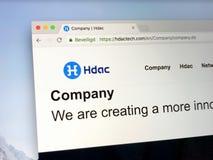 Homepage von HDAC - Hyundai-Motoren lizenzfreie stockbilder
