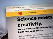 Homepage von Kodak lizenzfreie stockfotos