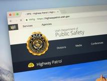 Homepage von Utah-Abteilung der öffentlicher Sicherheit Stockfoto