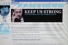 Homepage wikileaks Royalty Free Stock Photos