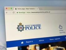 Homepage zachód - Yorkshire policja Zdjęcie Stock