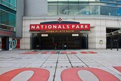 Homeplate广场国民停放华盛顿特区, 免版税库存图片