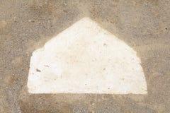 Homeplate de base-ball Images libres de droits