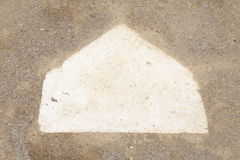 Homeplate del béisbol Imágenes de archivo libres de regalías