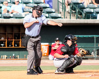 Homeplate umpire Grant Conrad. Stock Images