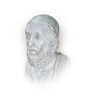 Homer. Ancient Greek poet Homer isolated on a white background Stock Photos