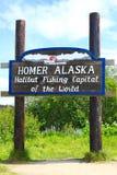 Homer Alaska - powitanie zdjęcie stock