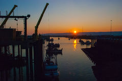 Homer Boat Harbor Foto de archivo libre de regalías
