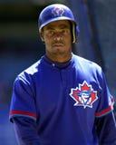 Homer Bush. Toronto Blue Jays infielder Homer Bush.  (Image taken from color slide Royalty Free Stock Images