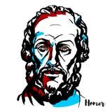 Homer Portrait ilustração stock