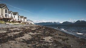 Homer Spit, Alaska, September 2018: 4K Timelapse movie video film of Homer Spit Alaskan beach at sunset with water stock video footage