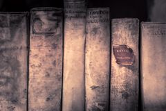 Homeri opera omnia. Old books at my school in Roermond, Netherlands Stock Photography