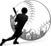 Homerun Baseball Fans Black & White Stock Photo