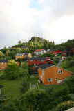Homes. In the ouskirts of Trondheim, Norway stock photo