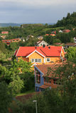Homes. In the ouskirts of Trondheim, Norway royalty free stock photo