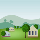 Homes. An image of a homes in a scenic neighborhood Stock Photography