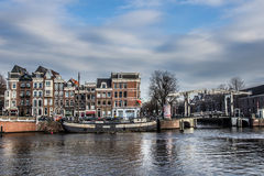 Homes on the Amstel River Stock Photo