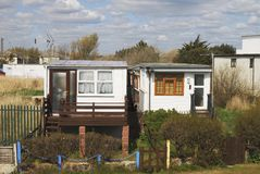 Homes by beach at Bognor Regis. UK Stock Images