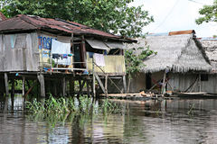 Homes in Belen - Peru Royalty Free Stock Images