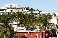 Homes in Bermuda. Tropical paradise, houses in Bermuda royalty free stock image