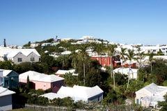 Homes in Bermuda. Tropical paradise, houses in Bermuda royalty free stock images