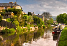 Homes and Boats, Bath, England Stock Photo