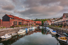 Homes in Bristol harbor Royalty Free Stock Images