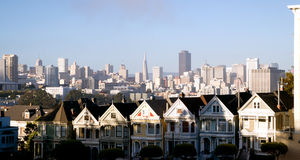 Homes and Buildings in San Francisco California Stock Photography