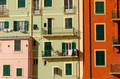 Homes in Camogli Royalty Free Stock Photos