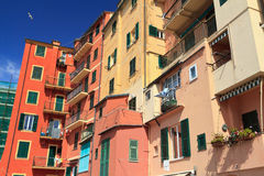 Homes in Camogli Stock Image