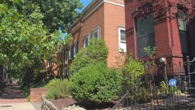 Homes on Capitol Hill Washington DC stock video footage