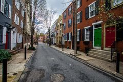 Homes in center city west in philadelphia pennsylvania during sp. Ring Royalty Free Stock Photography