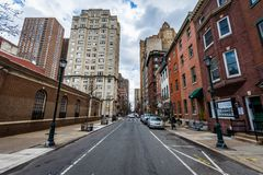 Homes in center city west in philadelphia pennsylvania during sp Royalty Free Stock Photography
