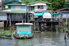 Homes on the Chao Phraya River Royalty Free Stock Images