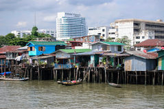 Homes on the Chao Phraya River Stock Photography