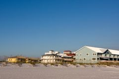 Homes And Condos On Beach Royalty Free Stock Photos