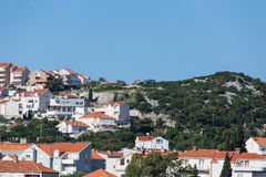 Homes on Croatian Hillside Stock Photo