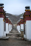 Homes in Darchen village Royalty Free Stock Photo