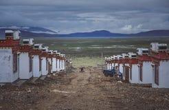 Homes in Darchen village Stock Photos