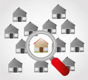 Homes. Design over gray background vector illustration Royalty Free Stock Photo