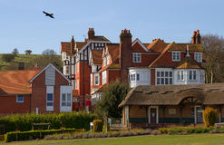 Homes in the Eastbourne with chimneys. Royalty Free Stock Photos