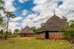 Homes in the Ethiopian countryside Royalty Free Stock Image